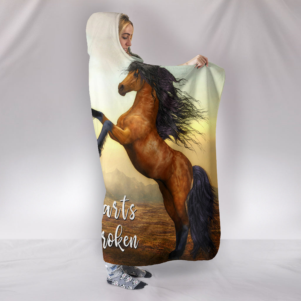 Wild Hearts Can't Be Broken Hooded Blanket