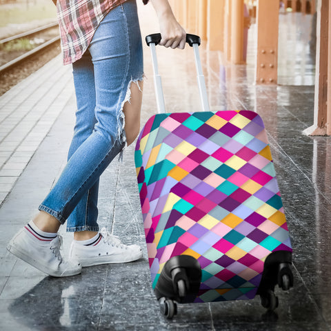 Image of Pink Diamonds Luggage Cover