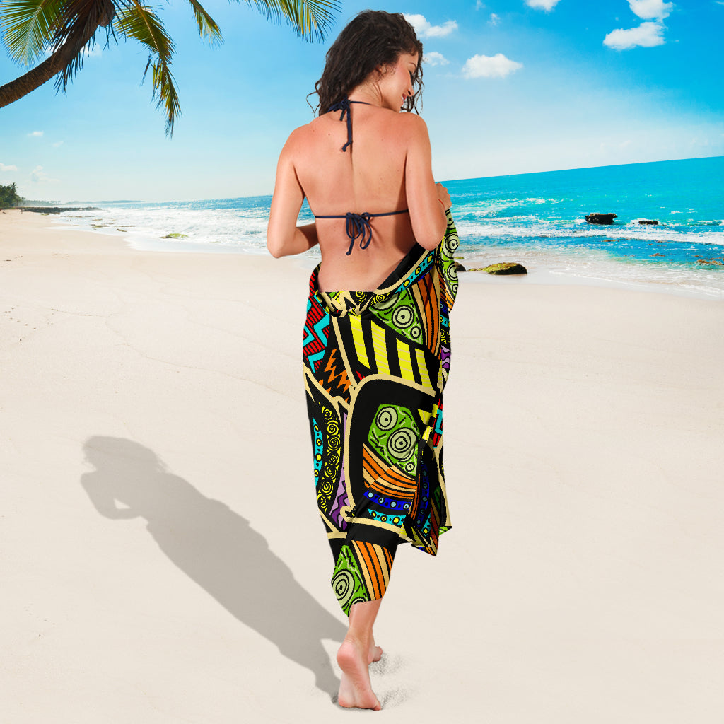Tribal Feathers Sarong