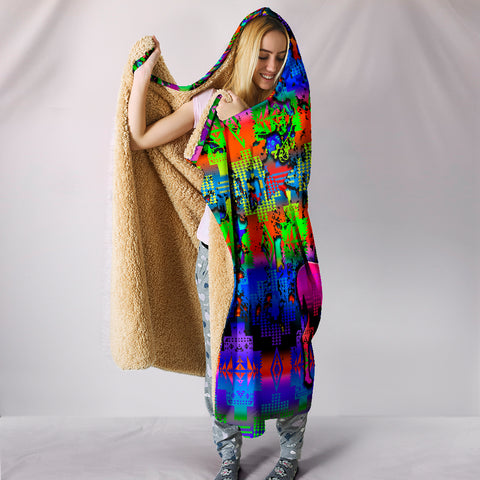 Image of Deer Council Hooded Blanket