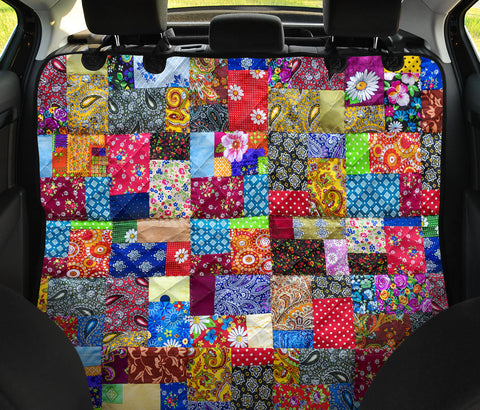 Image of Colorful Quilt Car Seat Cover