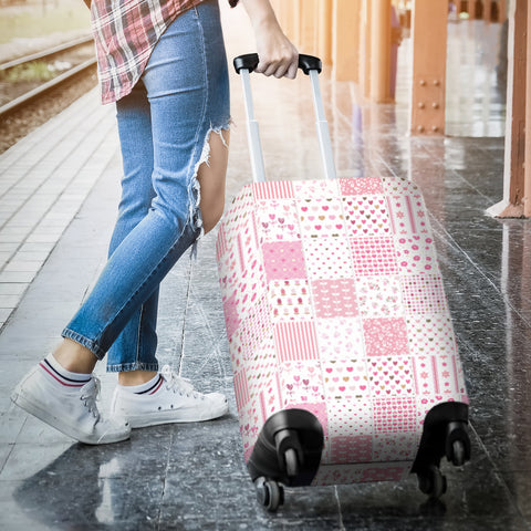Image of Pretty in Pink Luggage Cover