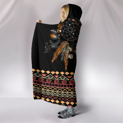 Image of Tribal Dream Dreamcatcher Hoodie Blanket