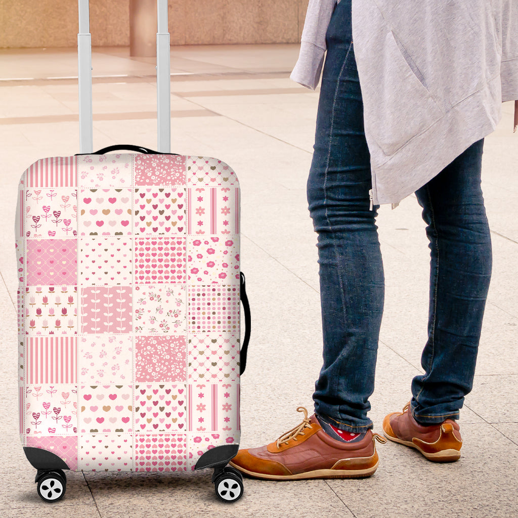 Pretty in Pink Luggage Cover