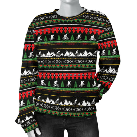 Image of Women's Ugly Mountain Biking Christmas Sweater