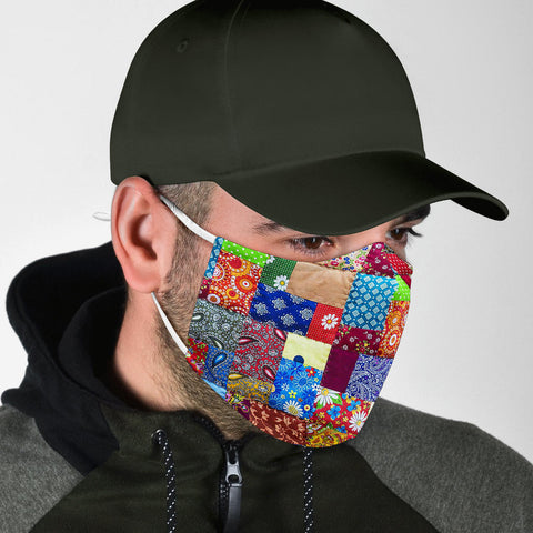 Image of Colorful Quilt Face Mask