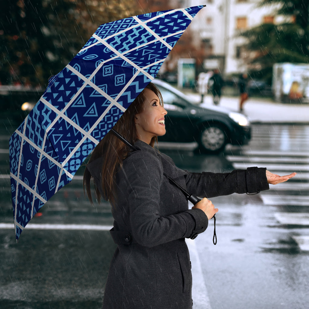 Blue Diiamonds Quilting Umbrella