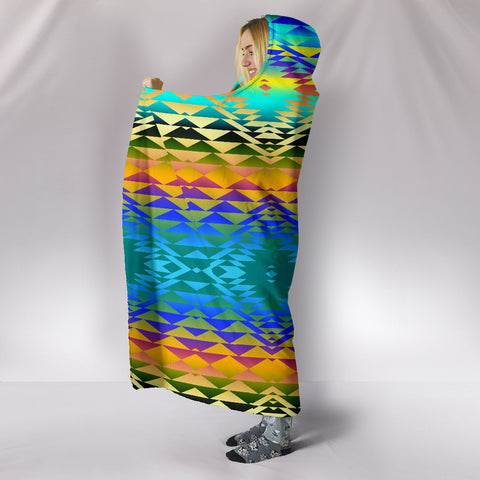 Image of Taos Frost Hooded Blanket