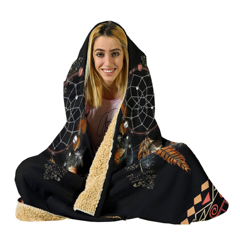Tribal Dream Dreamcatcher Hoodie Blanket