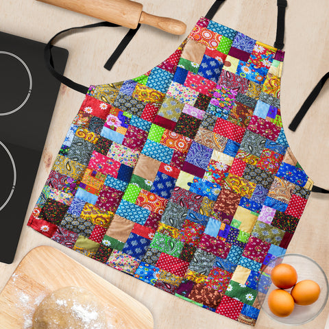 Image of Colorful Quilt Apron