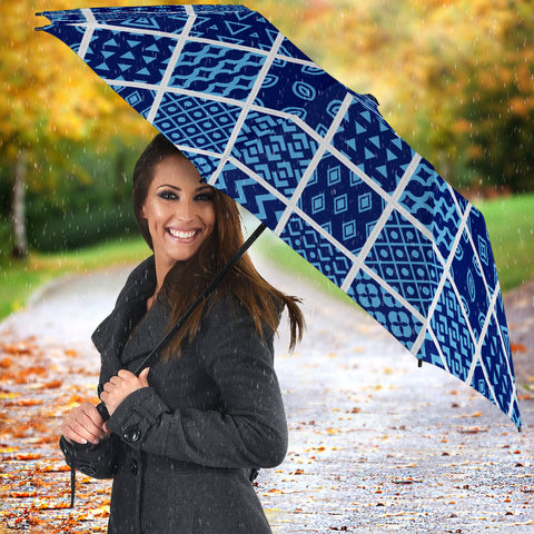 Image of Blue Diiamonds Quilting Umbrella