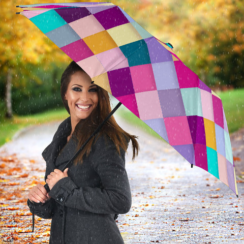 Image of Diamond Pattern Quilt Umbrella