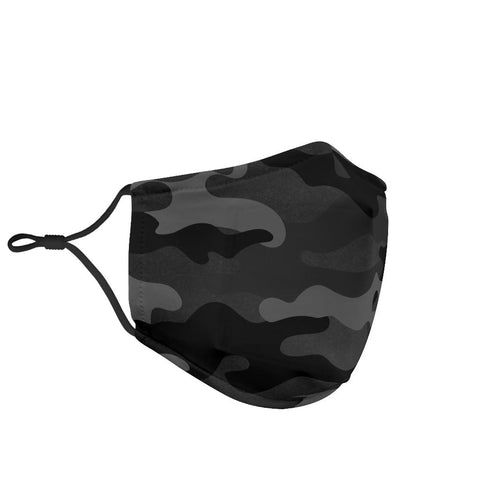 Image of Black Camo Face Mask
