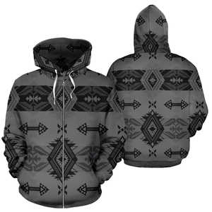 Sovereign Nation Gray Sokapi Zipper Hoodie