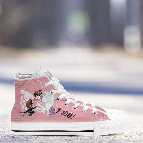 "Image of ""I Do"" Bachelorette Party High-Top Shoes"