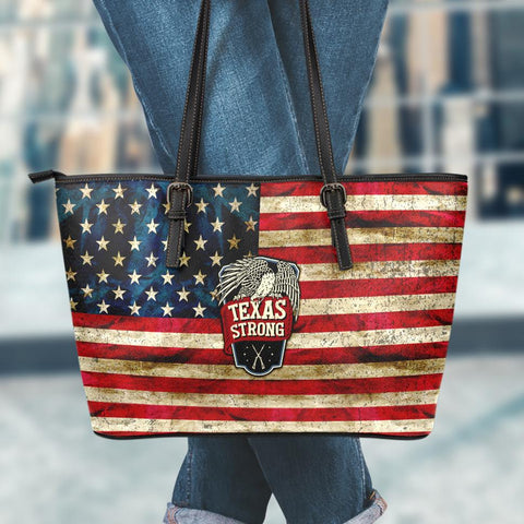 Image of Texas Strong Large Leather Tote Bag