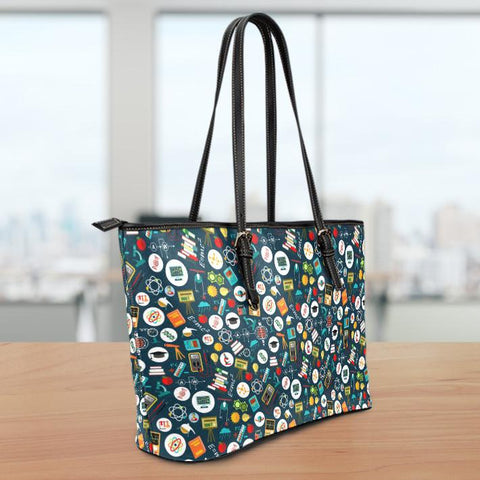 Image of Teacher Large Leather Tote Bag