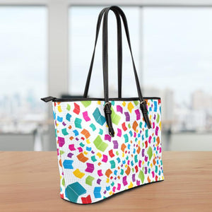 Books Large Leather Tote Bag