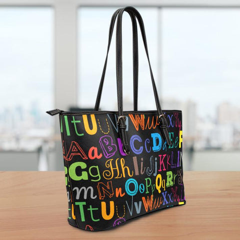 Image of I Teach Small Leather Tote Bag