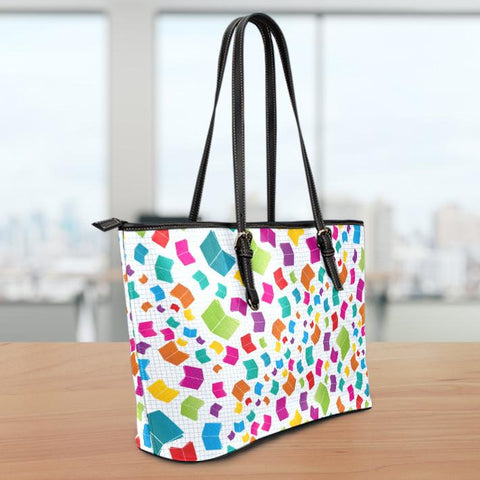 Image of Books Small Leather Tote Bag