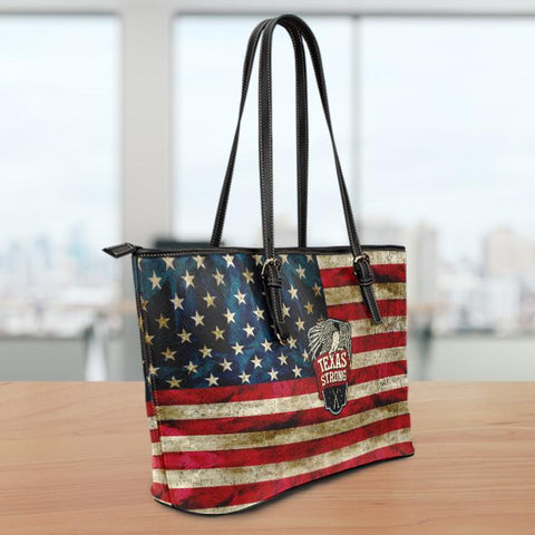 Image of Texas Strong Small Leather Tote Bag
