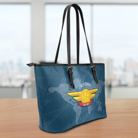 Image of AF-CA Small Leather Tote Bag