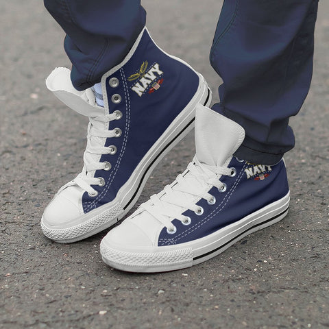 Image of Navy High Tops