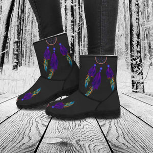 Purple Feather Dreamcatcher Boots