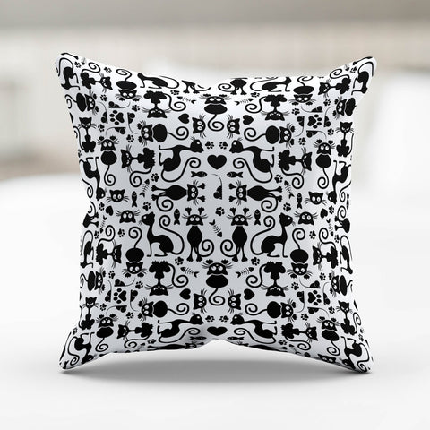 Image of Cats White Pillowcase
