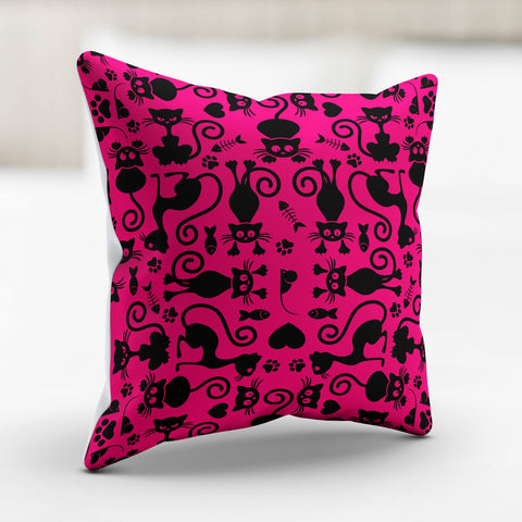Image of Cats Pink Pillowcase