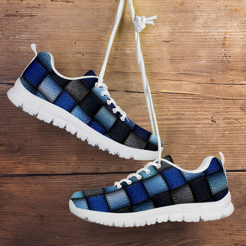 Image of Denim Patch Quilt Sneaker
