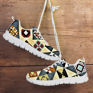 Yellow Patch Quilt Sneaker