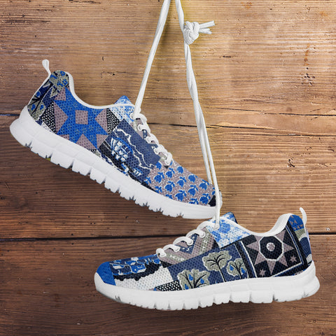 Image of Blue Patch Quilt Sneaker
