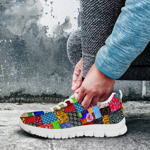 Image of Colorful Patch Quilt Sneaker