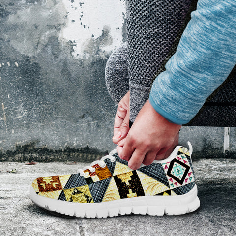 Image of Yellow Patch Quilt Sneaker