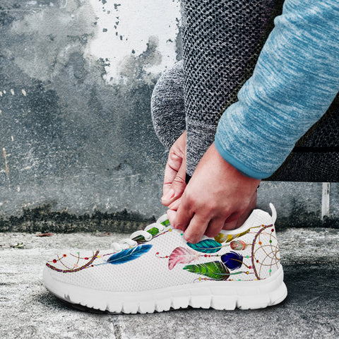 Image of Watercolor Feather Dreamcatcher Sneaker
