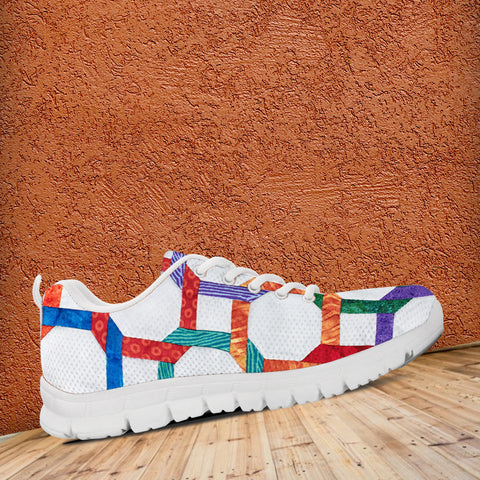 Image of Geometric Design Quilt Sneaker