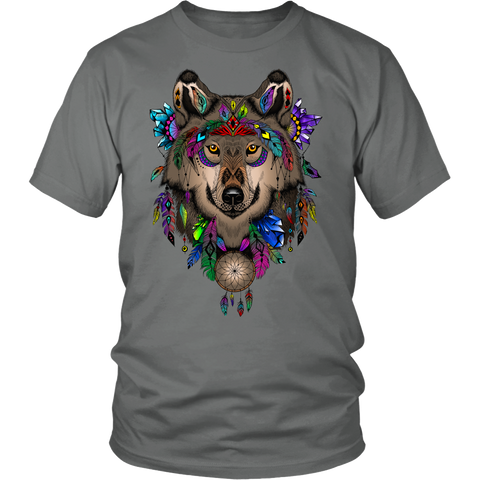 Image of Dreamcatcher Wolf Hoodie or T-shirt