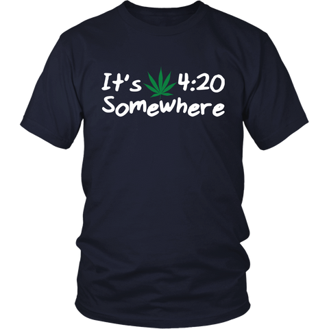 Image of It's 4:20 Somewhere Weed Shirt
