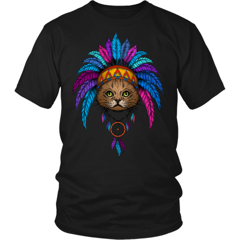 Image of Dreamcatcher Brave Cat Shirts and Hoodies