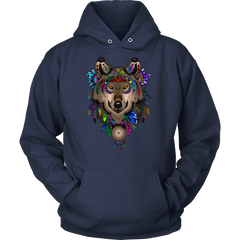 Dreamcatcher Wolf Hoodie or T-shirt