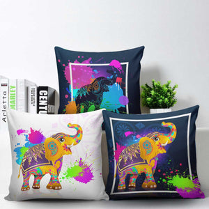 Colorful Elephant Pillow Covers