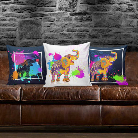 Image of Colorful Elephant Pillow Covers