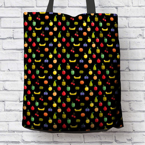Image of Bitmap Fruit Tote Bag