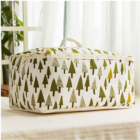 Image of Cotton Folding Quilt Storage Bag