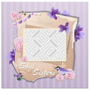 Soul Sister Personalized Photo Canvas and Frame