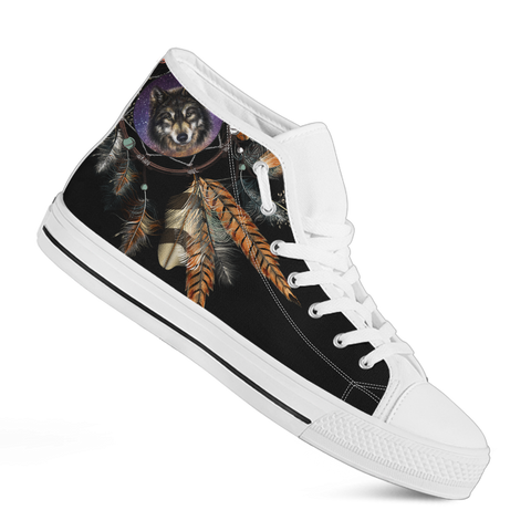 Dreamcatcher Wolf High-Top Sneakers