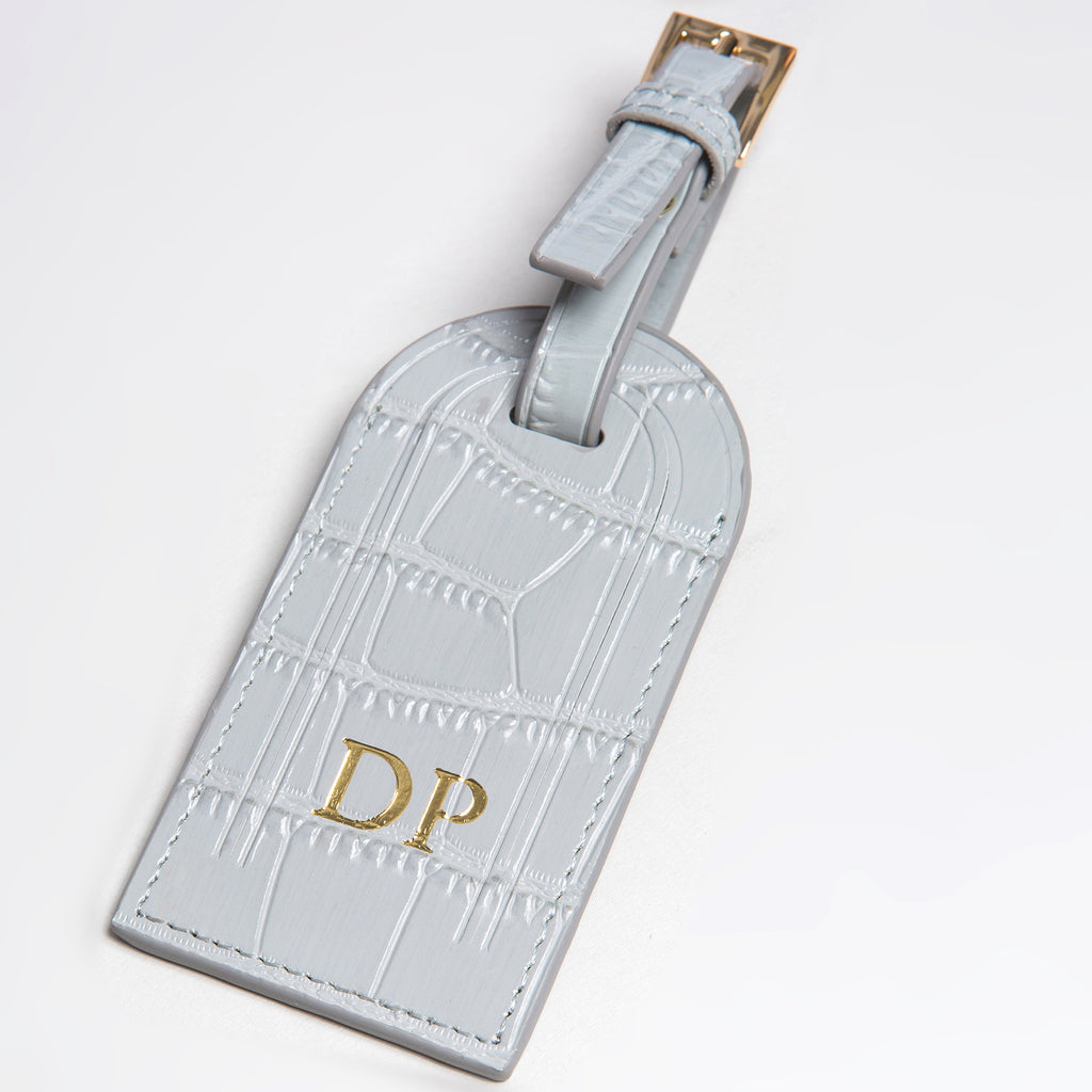 Grey Croc Luggage Tag