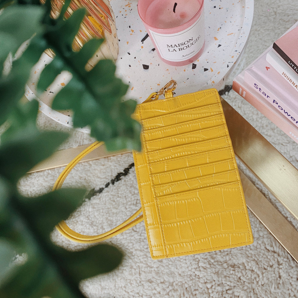 Yellow Croc Le Cou Phone Pouch