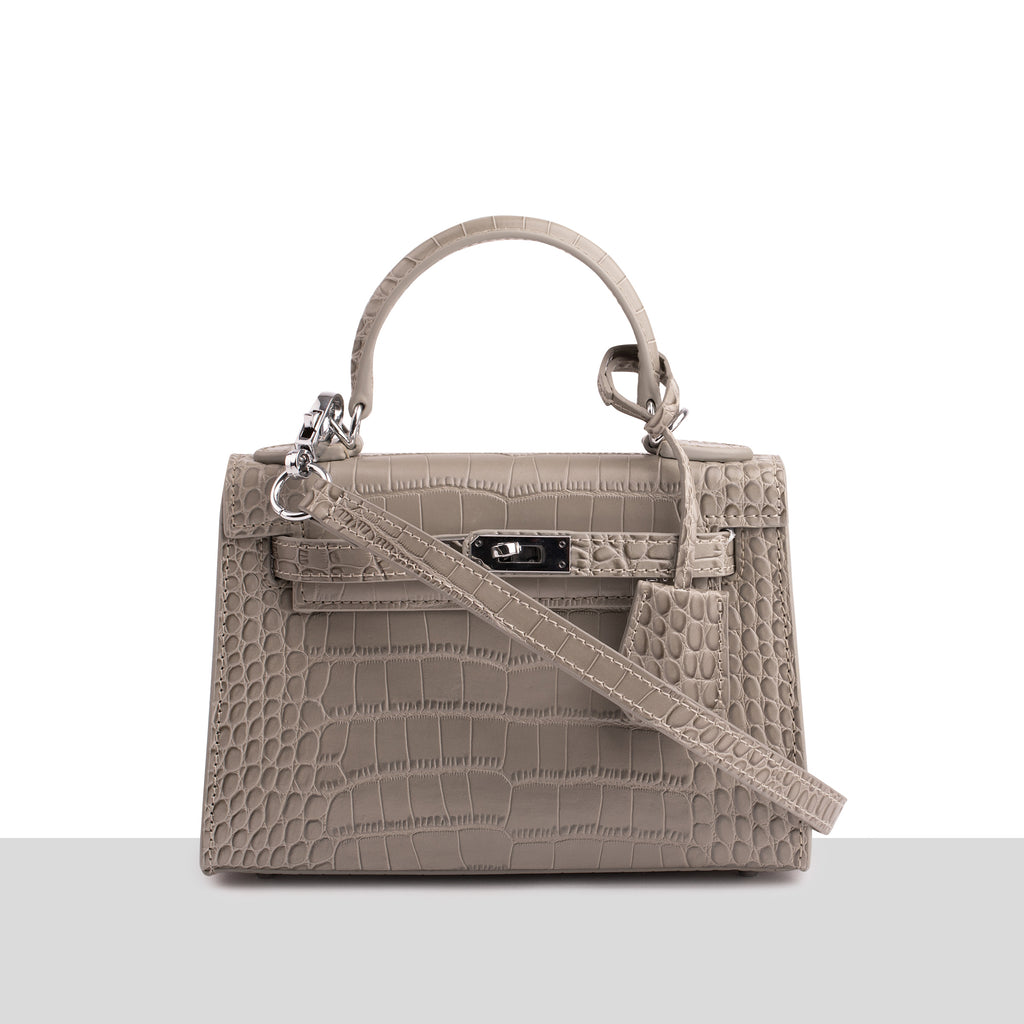 Grey Croc Mini Bag